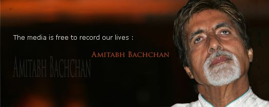 The media is free to record our lives: Amitabh Bachchan