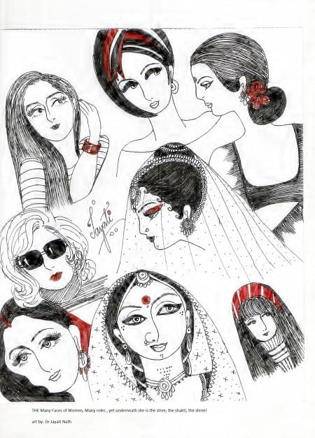 Many faces Many roles – Art by Jayati Nath