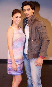 Shiv Pandit with Boss co-star Aditi Hydari