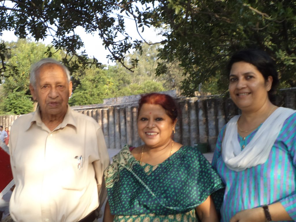 My mom and Aunt with Nek ji