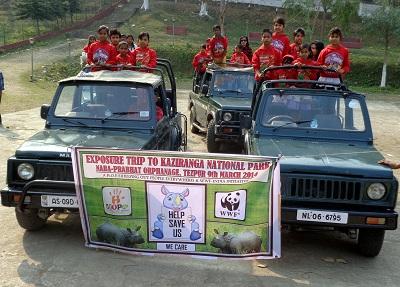 Exposure and Awareness Trip to Kaziranga National Park with Children of Naba-Prabhat Orphanage, Tezpur