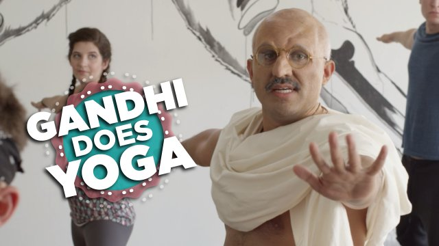 Video: If Gandhi Took A Yoga Class –   WHO IS THIS JOKE ON?