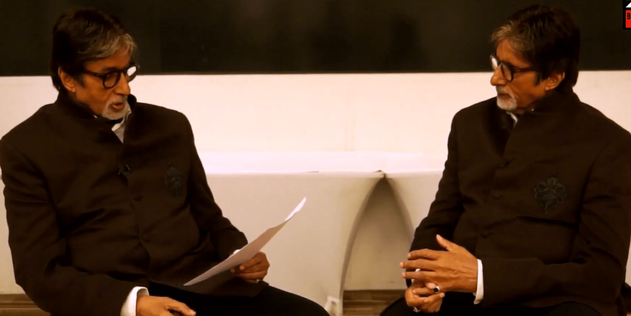 Video: Amitabh Bachchan interviews Amitabh Bachchan
