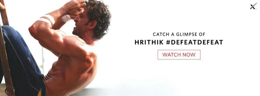 Video: Watch Hrithik Roshan defeat defeat!    Inspire  