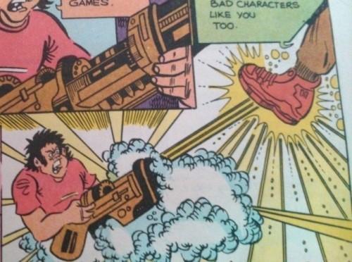 And making a gun break wind