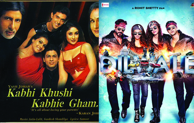 k3g and Dilwale poster