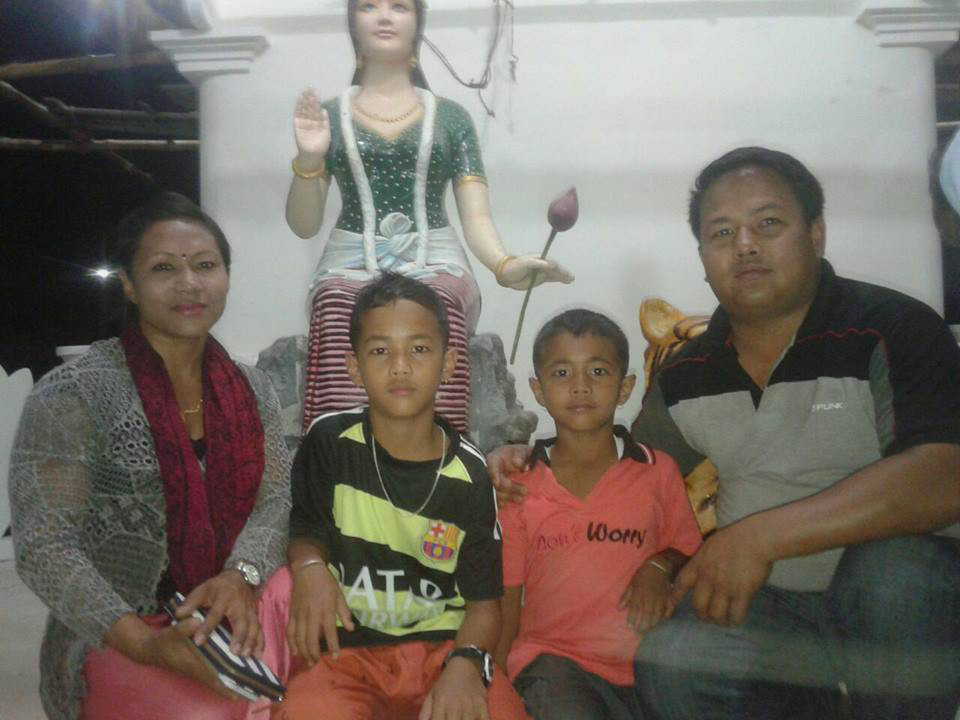 T. Sarita with Family