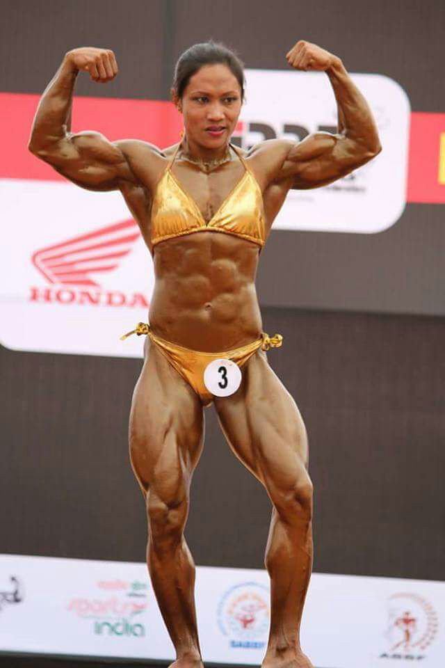 T. Sarita in a Bodybuilding Competition